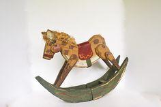 Vintage Folk Art Decor Vintage Decorative Horse by Vintassentials