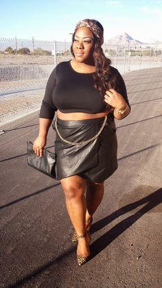 Plus size Fashion www.bigbonedstyle.blogspot.com @big_bonedbeauty #plussizefashion #plussizebeauty #plussizeblogger #plussizestyle  #charlotterusse #forever21 #style #fashion #blogger #psblogger #psstyle #croptop #leopardpumps #leatherskirt