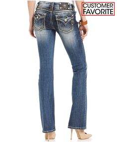 Miss Me Embellished Bootcut Jeans - Jeans - Women - Macy's