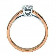 IDN Ring 15R Rosé- en Witgoud