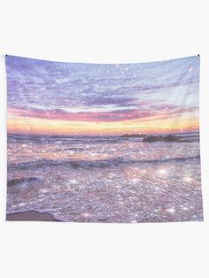 """""""Ocean Vintage Sparkly Aesthetic"""" Tapestry by ind3finite   Redbubble Tapestry Bedroom, Wall Tapestries, Tapestry Wall Hanging, Aesthetic Bedroom, 80s Aesthetic, Aesthetic Fashion, Tapestry Design, Bedroom Decor, Wall Decor"""