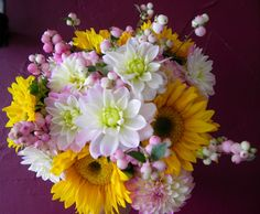 Sunflowers and Dahlias - A Beautiful Bouquet