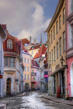 Pikk Street - Tallinn, Estonia