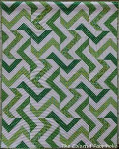 Broken Chevron quilt by The Colorful Fabriholic: Bloggers Quilt Festival: Original Design