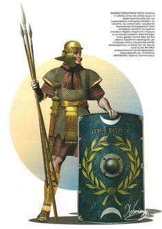 . Пеший воин вспомогательной когорты из Батавии, вторая половина I века н.э.