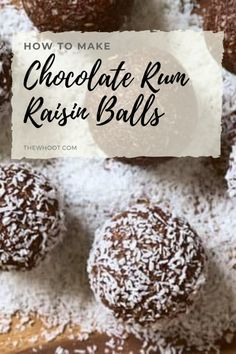 Yummy no-bake Chocolate Rum Raisin Balls are the perfect dessert to throw together when you're short on time and want something special! Get Wendy's recipe. Candy Recipes, Sweet Recipes, Baking Recipes, Wendys Recipe, Rum Balls, Balls Recipe, How To Make Chocolate, Christmas Baking, Raisin