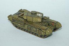 Churchill AVRE/ 1:100/ made by RPmodels :: .