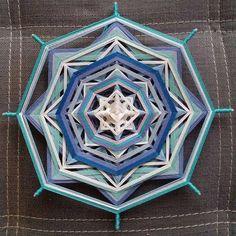 Mandala Ojo de Dios Chakra project Blue by BeHappyMandalaShop