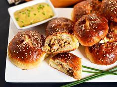 A German-Chinese mashup recipe: Pretzel Bao with Hot Mustard Pork Filling