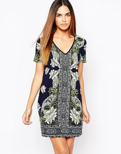 Warehouse Floral Printed Tunic Dress