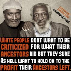 African history and white people. Ain't that the truth!