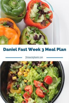 Recipes, shopping list, and meal plan for Week 3 of the Daniel Fast