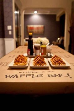 Every morning should be a waffle bar morning. {39 Slumber Party Ideas To Help You Throw The Best Sleepover Ever}