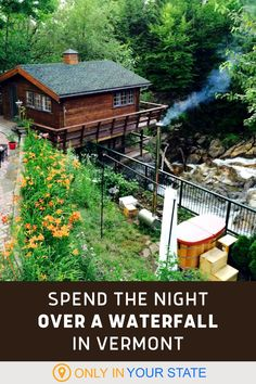 Spend the night in a charming Vermont cottage that's directly over a waterfall! This cozy cabin has got all the amenities you need, like WiFi and a full kitchen, plus some of the most beautiful views in the state. It's great for a family vacation or romantic weekend getaway. Travel Usa, Travel Tips, Best Bucket List, Romantic Weekend Getaways, Hidden Beach, Cozy Cabin, Summer Travel, Natural Wonders, Vacation Destinations