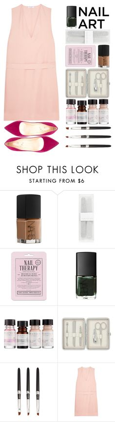 """""""Untitled #1283"""" by meelstyle ❤ liked on Polyvore featuring beauty, NARS Cosmetics, Forever New, Love 21, Liberty, John Lewis, Equipment, Cerasella Milano, nailart and woman"""