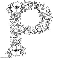 floral alphabet coloring pages – Page 2 – GetColoringPages.org
