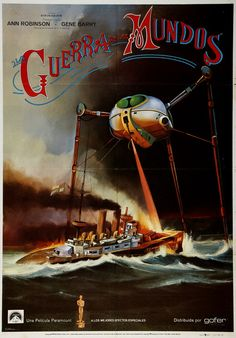 The War of the Worlds (1953), incongruously illustrated with an image from Jeff Wayne's Musical Version…There are no tripods in the Pal movie!