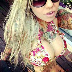 Tattoo #inked Blonde