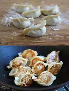 Pan-Fried Dumplings with Pork, Shrimp and Cabbage - this would be a fun date night cooking endeavor!