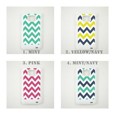 Samsung Galaxy S 2 Case / Samsung I9100 Galaxy S II Hard Case  -- Mint Chevron