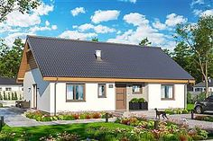Projekt domu Tracja 2 99,38 m2 - koszt budowy 211 tys. zł - EXTRADOM