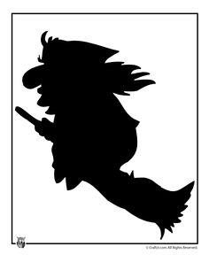 Tisk Halloween Létající čarodějnice Halloween Šablony Template - Craft Jr.