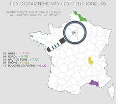 Départements français où les parieurs en ligne sont les plus nombreux.   >> https://wallabet.fr/profil-type-parieur-ligne/
