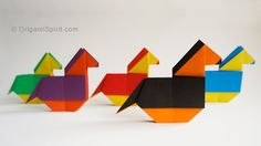 Origami tutorial and video instruction on how to make an origami horse. With permission from designer José Tomás Buitrago. SUBTÍTULOS EN ESPAÑOL • Leyla Torr...