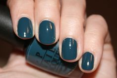 Not normally a fan of blues and greens for polish, but this color might convert me. :-)