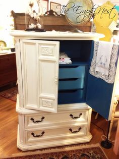 The Empty Nest: ~ Who's snickering now....or how to transform your outdated furniture with Chalk Paint® by Annie Sloan ~
