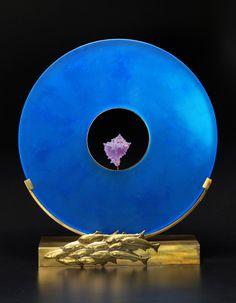 Blue Fish School: Georgia Pozycinski, Joseph Pozycinski: Art Glass & Bronze Sculpture   Artful Home