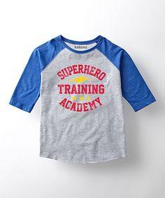 This Royal 'Superhero Academy' Raglan Tee - Toddler & Kids is perfect! #zulilyfinds