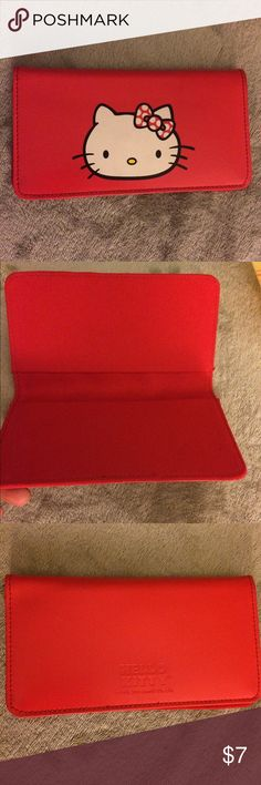 Hello kitty checkbook cover Red hello kitty check book cover. Brand new! *authentic* Hello Kitty Accessories