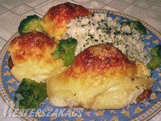 Sertéskaraj mornay mártással recept Meat Recipes, Pork, Food And Drink, Chicken, Kale Stir Fry, Pork Chops, Cubs