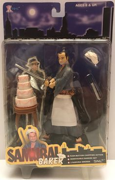We always have the hottest Vintage Toys at The Angry Spider.  Now available: TAS037801 - 2000 ...  Check it out here: http://theangryspider.com/products/tas037801-2000-x-toys-saturday-night-live-samurai-baker?utm_campaign=social_autopilot&utm_source=pin&utm_medium=pin