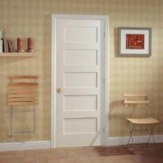 Masonite MDF Series Smooth 5-Panel Equal Solid Core Primed Composite Interior Door Slab-14094 at The Home Depot