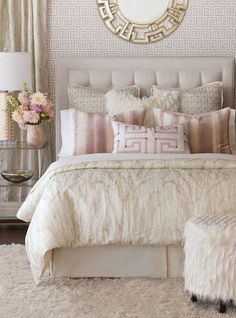 Stunning Classy Master Bedroom Design and Decor Ideas What's Decoration? Decoration may be the art of … Cozy Bedroom, Home Decor Bedroom, Bedroom Furniture, Bedroom Bed, Girls Bedroom, Bedroom Apartment, White Bedroom, Shabby Bedroom, Bedroom Ceiling