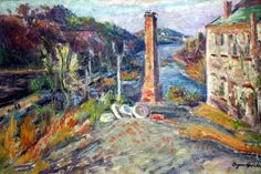Eugene Speicher - Country House with Obelisk