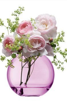 Pink Roses in pink pot........