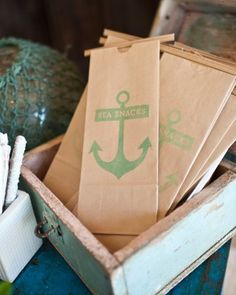 """See the """"Goodies To Go"""" in our A Blue-and-White Nautical Wedding in Newport Beach gallery"""