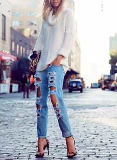 Love wrapped jeans.