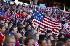 Fans are seen in the stands in the first half during a World Cup qualifier between the U.S. and Panama. Photo by John Lok / The Seattle Times