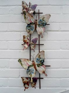 Metal Wall Art - Vintage Butterflies (Q-210): Amazon.co.uk: Kitchen & Home