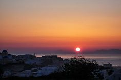 A sunset not only signals the end of a day, but the promise of new adventures on the next... #santorini #sunset from #perivolas