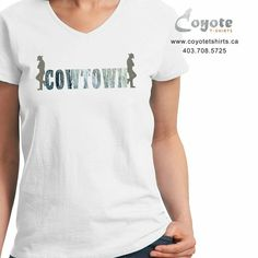 Cowtown. www.coyotetshirts.ca 403.708.5725 No minimum, no setup fee, small order friendly, personal customization guaranteed, 24 to 48 hour turnaround, at 5534 1A ST SW Calgary. #Calgary #Alberta #Coyotetshirts #CustomTshirts #CalgaryAlberta #CalgaryStampede