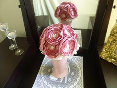 Fabric Flower Bouquet, Bride... from FleurDeLisJoanMarie on Wanelo
