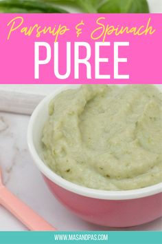 Combine two nutritious ingredients with this parsnip and spinach puree to make a baby meal that's creamy and nutritious. Great for first meals and weaning recipes. #babyweaning #weaningrecipe #babyfood #babypuree #babymeals Baby Led Weaning Breakfast, Baby Led Weaning First Foods, Baby First Foods, Baby Weaning, Baby Finger Foods, Homemade Baby Snacks, Starting Solids Baby, Parsnip Puree, Baby Feeding Schedule
