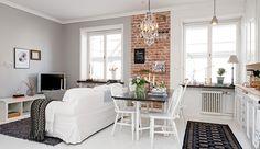 Small Studio Apartment Layout Design Ideas – home design - Modern House Design, Apartment Design, Home, Small Room Design, House Interior, Apartment Layout, Home Interior Design, Interior Design, Bright Apartment