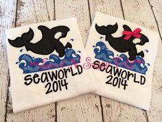 Orca Whale Applique Shirt or Dress-- Summer Time, Whale, Ocean, Shamu, SeaWorld, Personalized Shirt, Boy, Girl