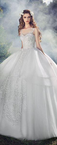 Milva 2016 Wedding Dresses Fairy Garden Collection / http://www.deerpearlflowers.com/milva-wedding-dresses/17/